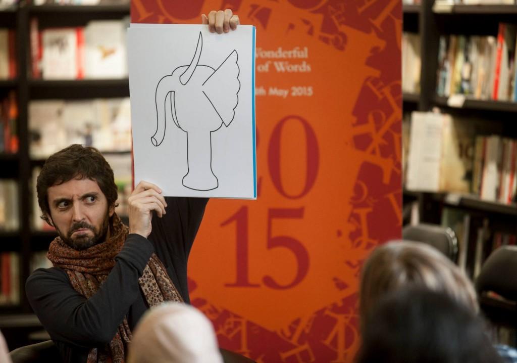 Daniel storytelling © Bradford Literature Festival 2015