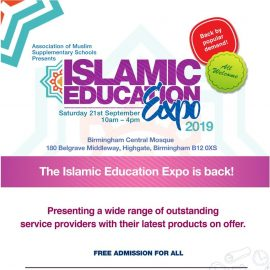 Islamic Education Expo Birmingham, Sep 21
